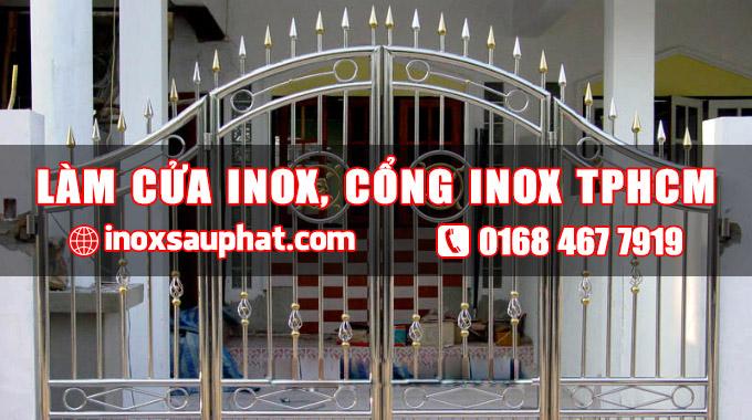 Xưởng làm cửa cổng inox ởTPHCM